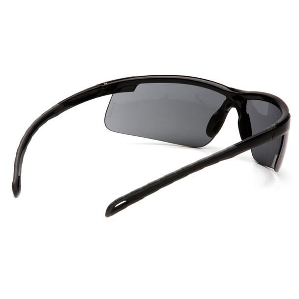 Box of 12 Pyramex Ever-Lite Gray Lens Black Frame Safety Glasses SB8620D Rear
