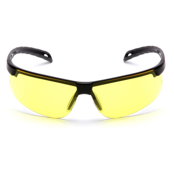 Pyramex Safety Glasses Ever-Lite Amber Black Frame - Box Of 12