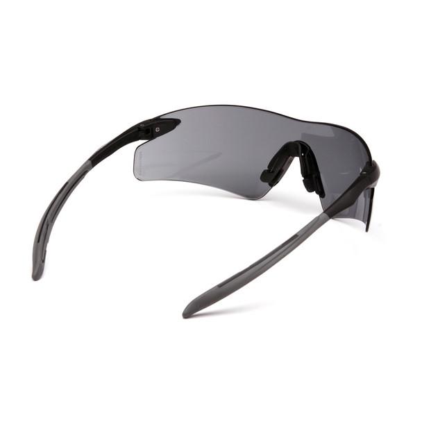 Box of 12 Pyramex Intrepid II Gray Lens Safety Glasses SB8820S Rear