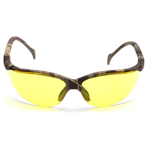 Box of 12 Pyramex Venture II Amber Lens Safety Glasses SH1830S Front