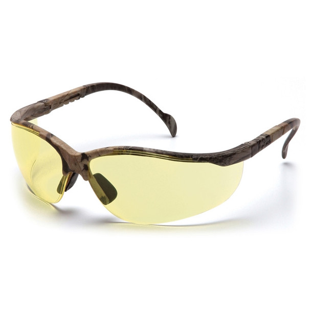 Box of 12 Pyramex Venture II Amber Lens Safety Glasses SH1830S Side