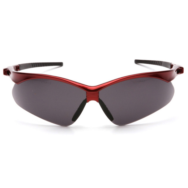Box of 12 Pyramex PMXTREME Gray Lens Safety Glasses with Cord SR6320SP Front
