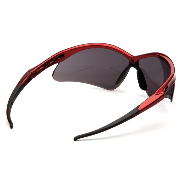 Box of 12 Pyramex PMXTREME Gray Lens Safety Glasses with Cord SR6320SP Rear