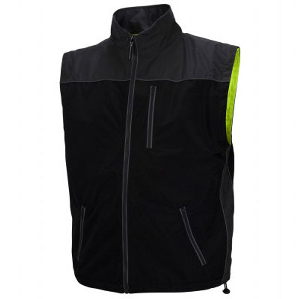 Pyramex Class 3 Hi Vis Lime Weather Resistant 4-in-1 Reversible Jacket with Zip Off Sleeves RJR3410 Interior Vest Front