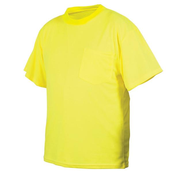 Pyramex Non-ANSI Hi Vis Lime Short Sleeve T-Shirt RTS2110NS Front