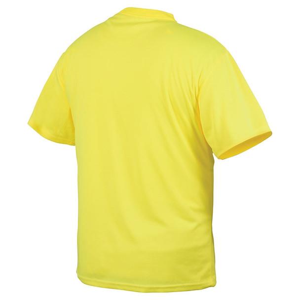 Pyramex Non-ANSI Hi Vis Lime Short Sleeve T-Shirt RTS2110NS Back