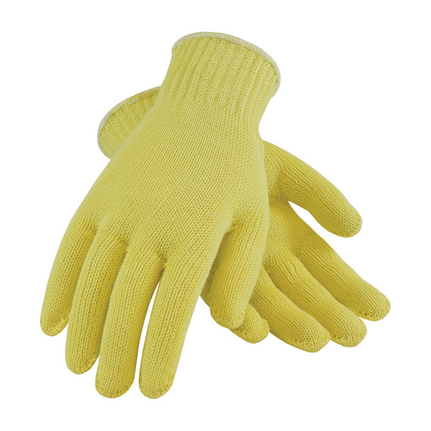 PIP Box of 72 Pair A3 Hi Vis Yellow Kut-Gard Kevlar Made in USA Gloves 07-K300