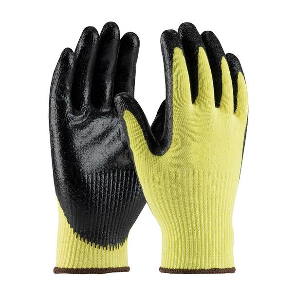 PIP Box of 72 Pair A2 Cut Level Hi Vis Yellow Kevlar Seamless Gloves Smooth Grip 09-K1400 Pair