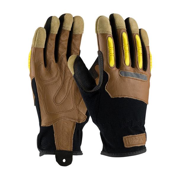 PIP Box of 72 Pair Maximum Safety Goatskin Leather Work Gloves 120-4200 Pair
