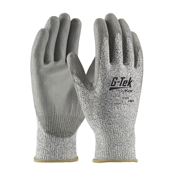 PIP Box of 72 Pair A3 Cut Level G-Tek PolyKor Knit Safety Gloves 16-530