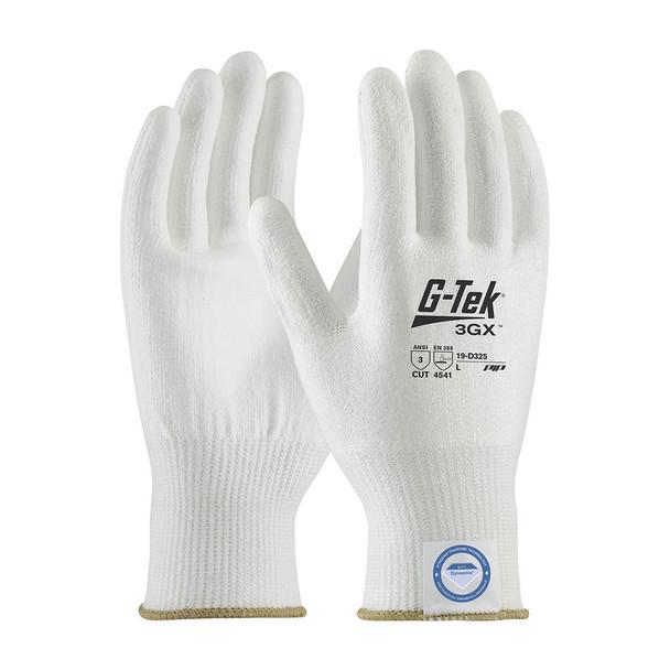 PIP Case of 72 Pair A3 Cut Level G-Tek 3GX White Dyneema Smooth Grip Gloves 19-D325