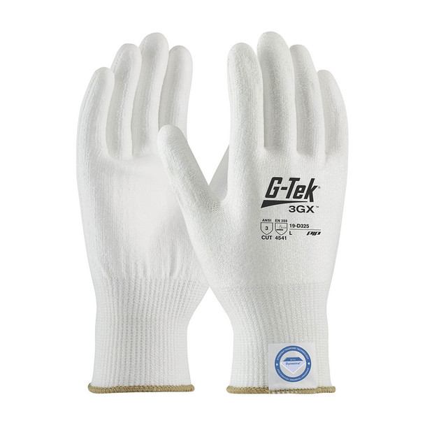PIP Case of 72 Pair A3 Cut Level G-Tek 3GX White Dyneema Smooth Grip Gloves 19-D325