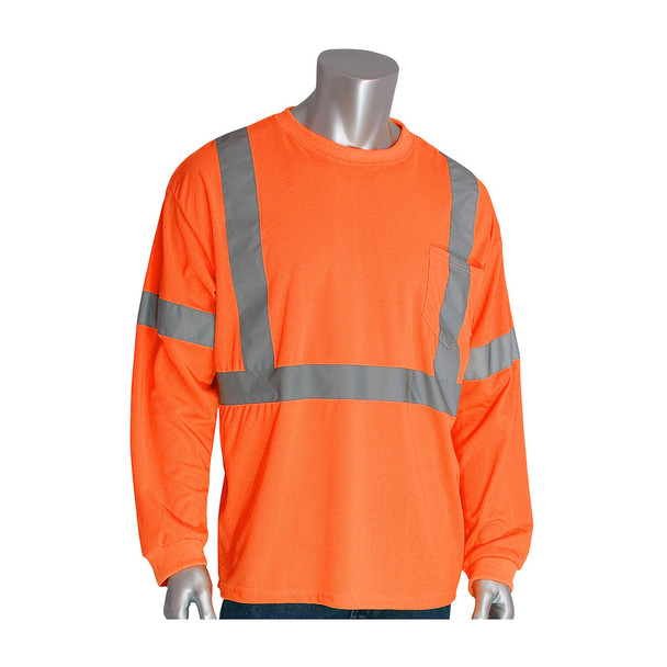 PIP Class 3 Hi Vis Long Sleeve T-Shirt 313-1300 Orange