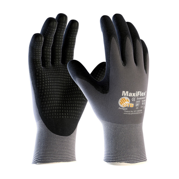 PIP Case of 144 Pair A1 Cut Level MaxiFlex Nylon Gloves with Nitrile Micro Dot Grip 34-844 Pair