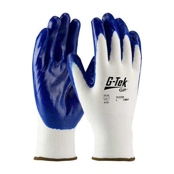 PIP Box of 300 Pair G-Tek GP Glove with Nitrile Grip 34-C229 Top