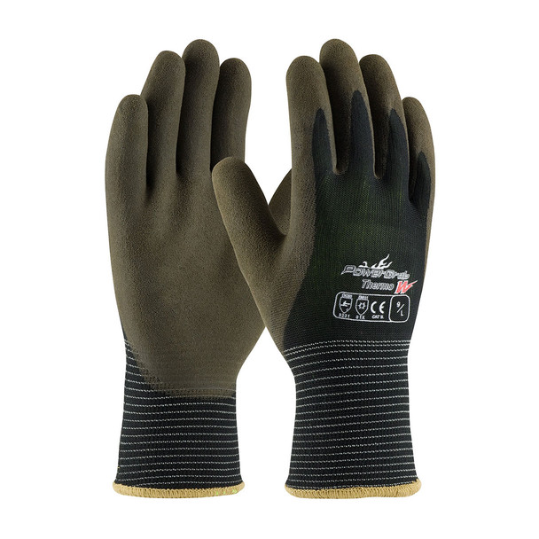 PIP Box of 72 Pair PowerGrab Thermo Nylon Glove with Hi-Vis Liner and Latex Grip 41-1430