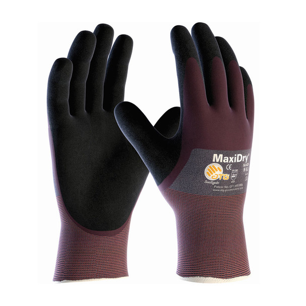 PIP Case of 72 Pair A1 Cut Level MaxiDry Ultra Lightweight Nitrile Safety Gloves 56-425