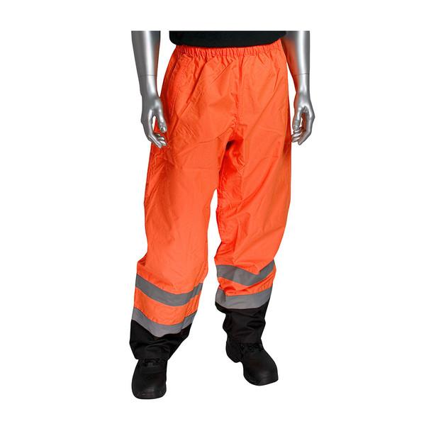 PIP Class E Hi Vis Black Trim Pants 318-1757 Orange In Use