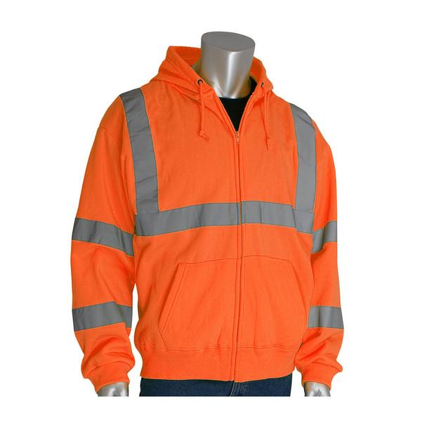 PIP Class 3 Hi Vis Hooded Sweatshirt 323-HSSE Orange