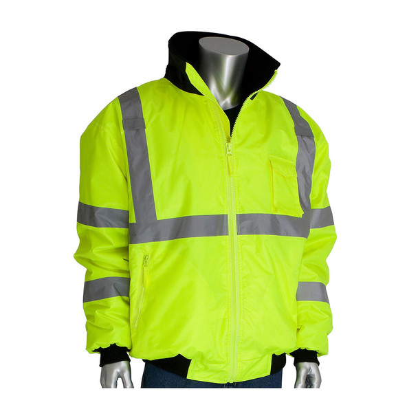 PIP Class 3 Hi Vis 2-in-1 Bomber Jacket 333-1762 Yellow Collar