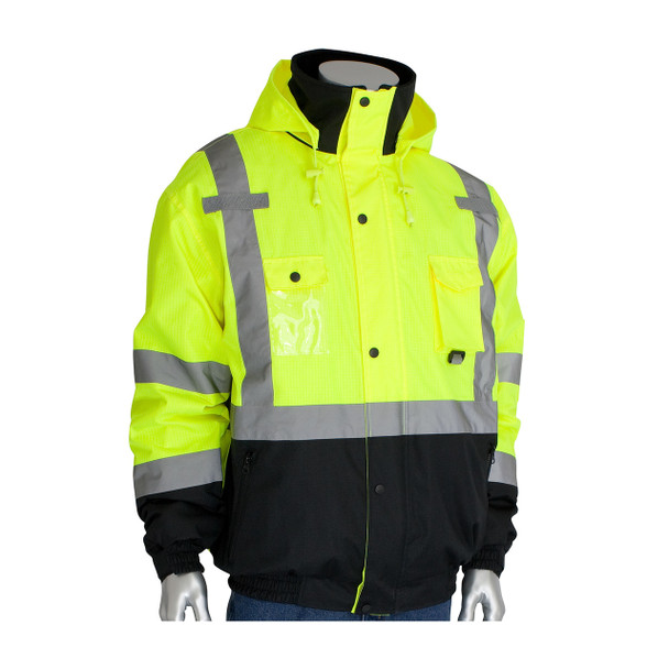 PIP Class 3 Rip Stop Fleece Lined Bomber Jacket 333-1770 Yellow Front