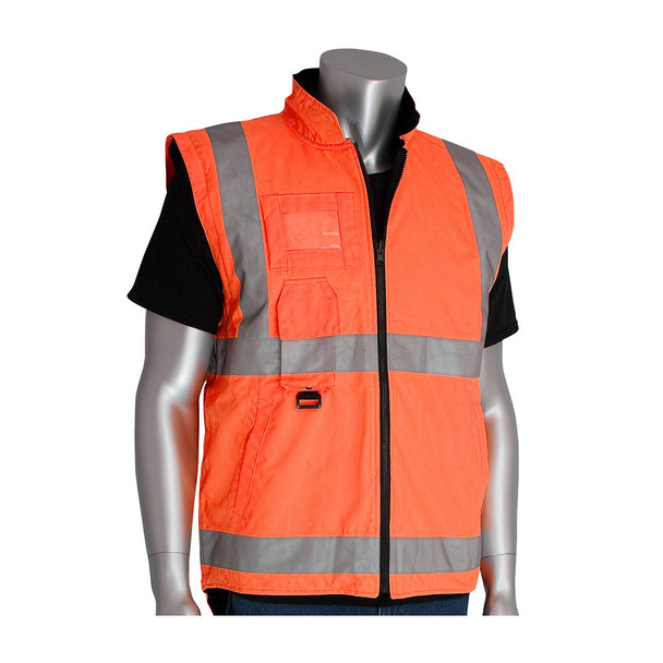 PIP Class 3 Hi Vis 7-in-1 Coat 343-1756 Orange Vest