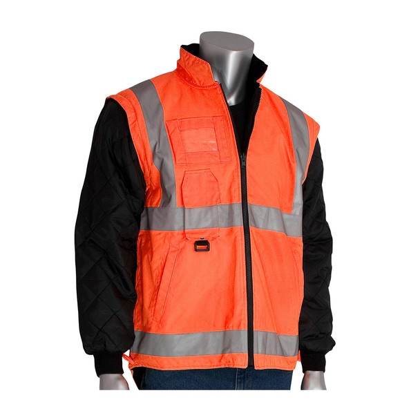 PIP Class 3 Hi Vis 7-in-1 Coat 343-1756 Orange Liner