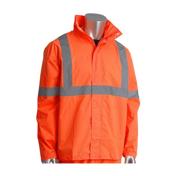 PIP Class 3 Hi Vis Two-Piece Rainsuit 353-1000 Orange Jacket