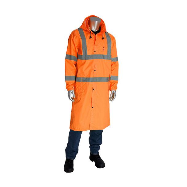 PIP Hi Vis Class 3 Raincoat 353-1048 Orange