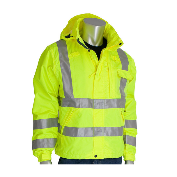 PIP Class 3 Hi Vis Waterproof Breathable Jacket 353-2000 Yellow