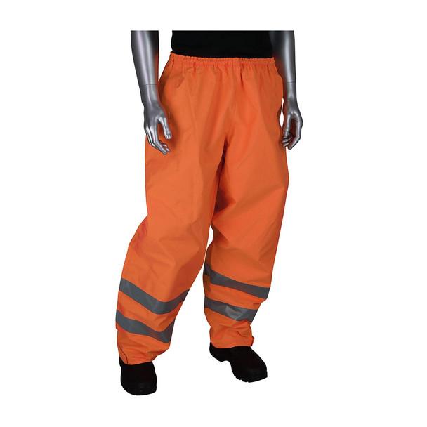 PIP Hi Vis Class E Waterproof Rain Pants 353-2002 Orange