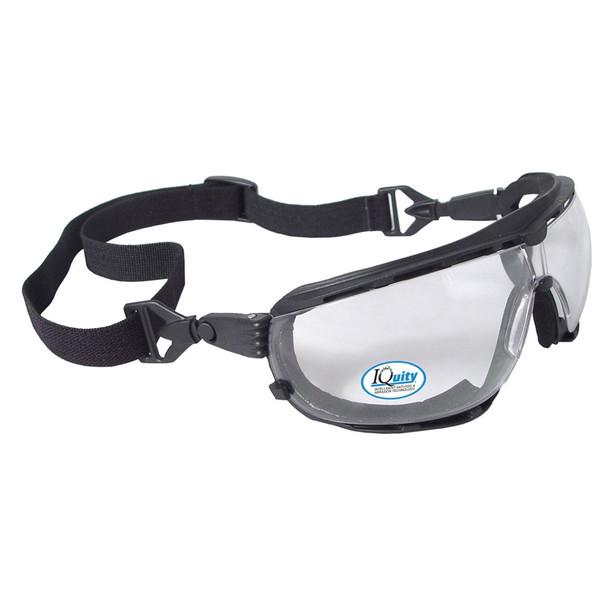 Radians Box of 12 iQuity Dagger IQ Anti-Fog Foam Padded Clear Lens Glasses DG1-13