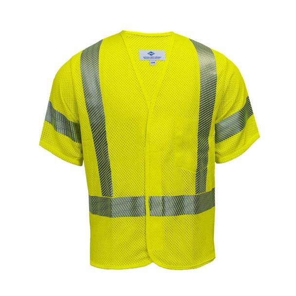 NSA FR Class 3 Hi-Vis Yellow Arc Flash Mesh Made in USA Vest V00HA3V Front