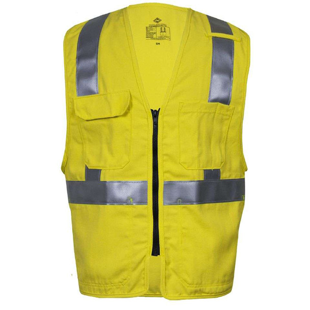 NSA FR Class 2 Hi Yellow Made in USA Road Vest V21TV2Z