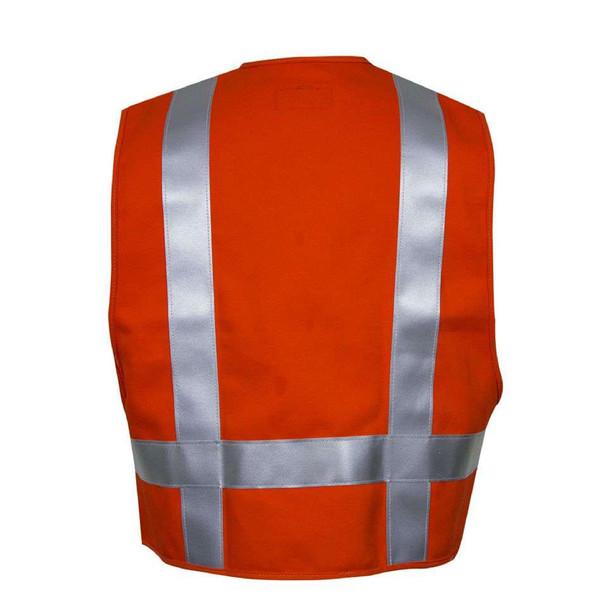 NSA FR Class 2 Hi Vis Orange Deluxe Road Safety Vest VNT99222Back