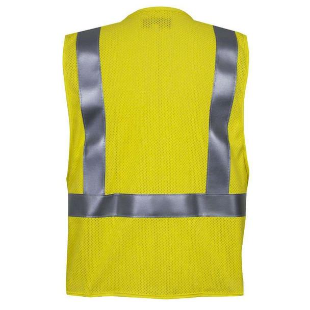 NSA FR Class 2 Hi Vis Electricians Mesh Safety Vest VNT99363 Back