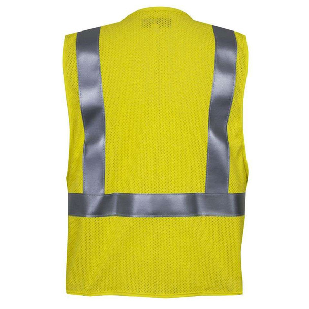 NSA FR Class 2 Hi Vis Made in USA Electricians Mesh Safety Vest VNT99363 Back