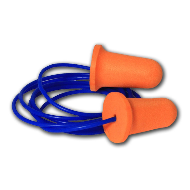 Wholesale Corded Disposable Earplugs - Radians Deviator FP81 Bell Foam - 1000 - FP81-1000