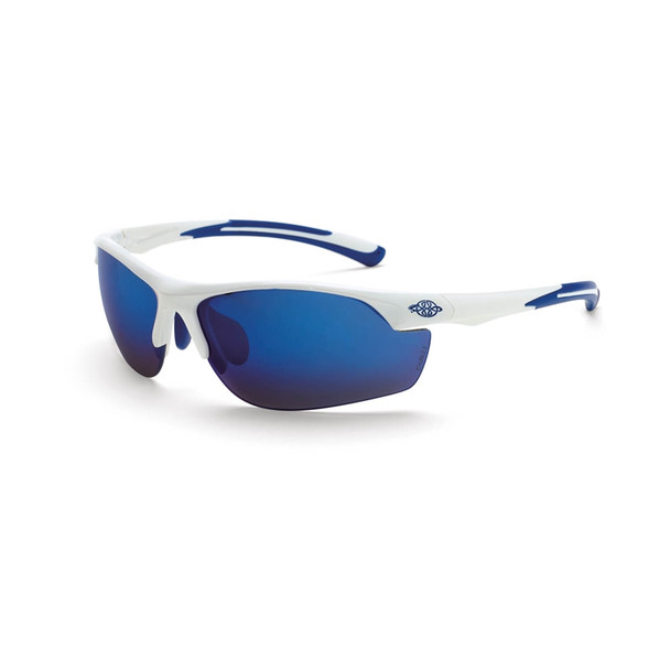 Crossfire AR3 White Half-Frame Blue Mirror Lens Safety Glasses 16278 - Box of 12