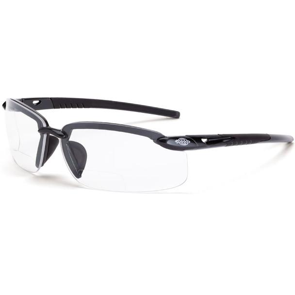Crossfire ES5 Half-Frame Polarized Smoke Lens Bifocal Reader Safety Glasses - Box of 12