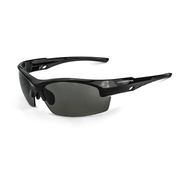 Crucible Shiny Black Frame Smoke Lens Glasses 4061