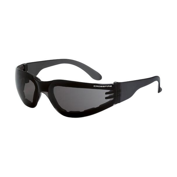 Crossfire Shield Foam Lined Anti Fog Smoke Lens 541AF Safety Glasses - Box of 12