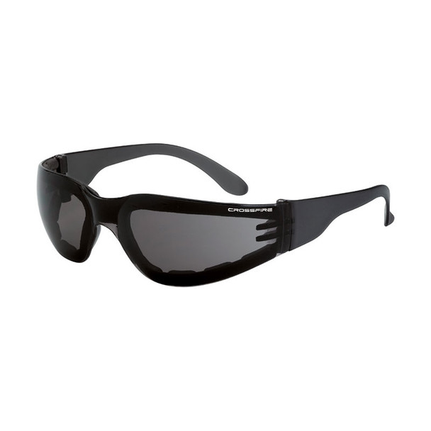 Crossfire Shield Foam Lined Anti Fog Smoke Lens 541AF Safety Glasses - Box of 12