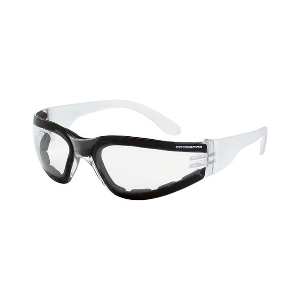Crossfire Shield Foam Lined Frameless Anti-Fog Lens Safety Glasses 554AF - Box of 12