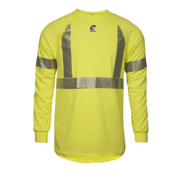 NSA FR Class 2 Hi Vis Moisture Wicking Made in USA Long Sleeve T-Shirt BSTJTRLSC2
