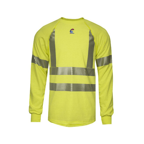 NSA FR Class 3 Hi Vis Moisture Wicking Long Sleeve T-Shirt BSTJTRLSC3