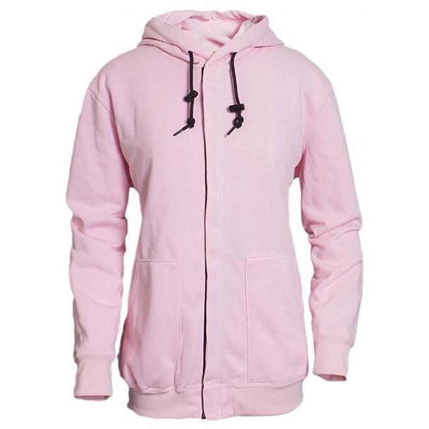 NSA Womens FR NFPA 70E Pink Zip Up Made in USA Sweatshirt C21SA-05W