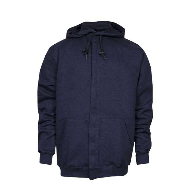 NSA FR NFPA 70E Midweight Made in USA Full Zip Navy Hoodie C21WT05