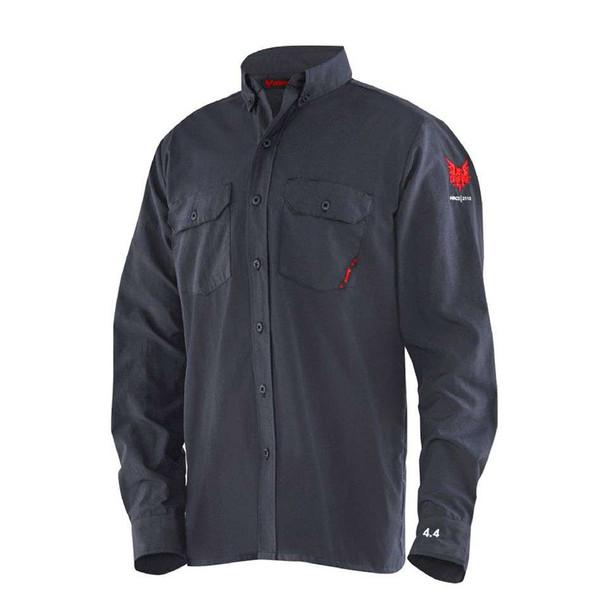DriFire FR Moisture Wicking Navy Work Shirt DF2-CM-450C-LS