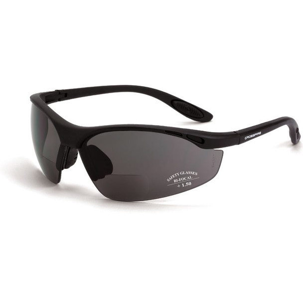 Crossfire Bifocal Safety Glasses - Box of 12 - Talon-Readers